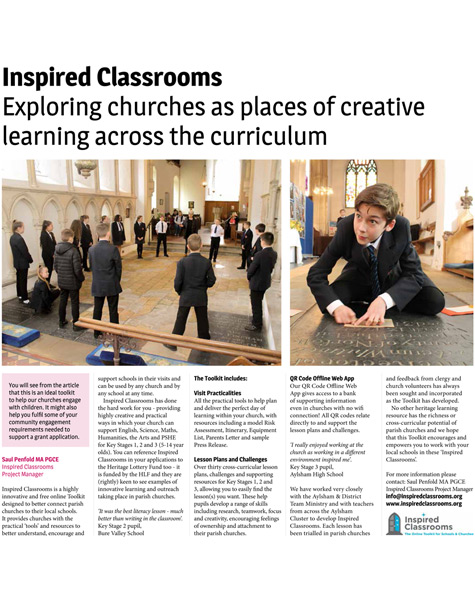Inspired Classrooms - The Magazine (Diocese of Norwich) 24th July 2018