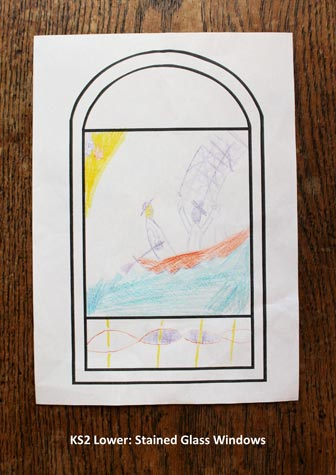 KS2 Lower - Stained Glass Windows